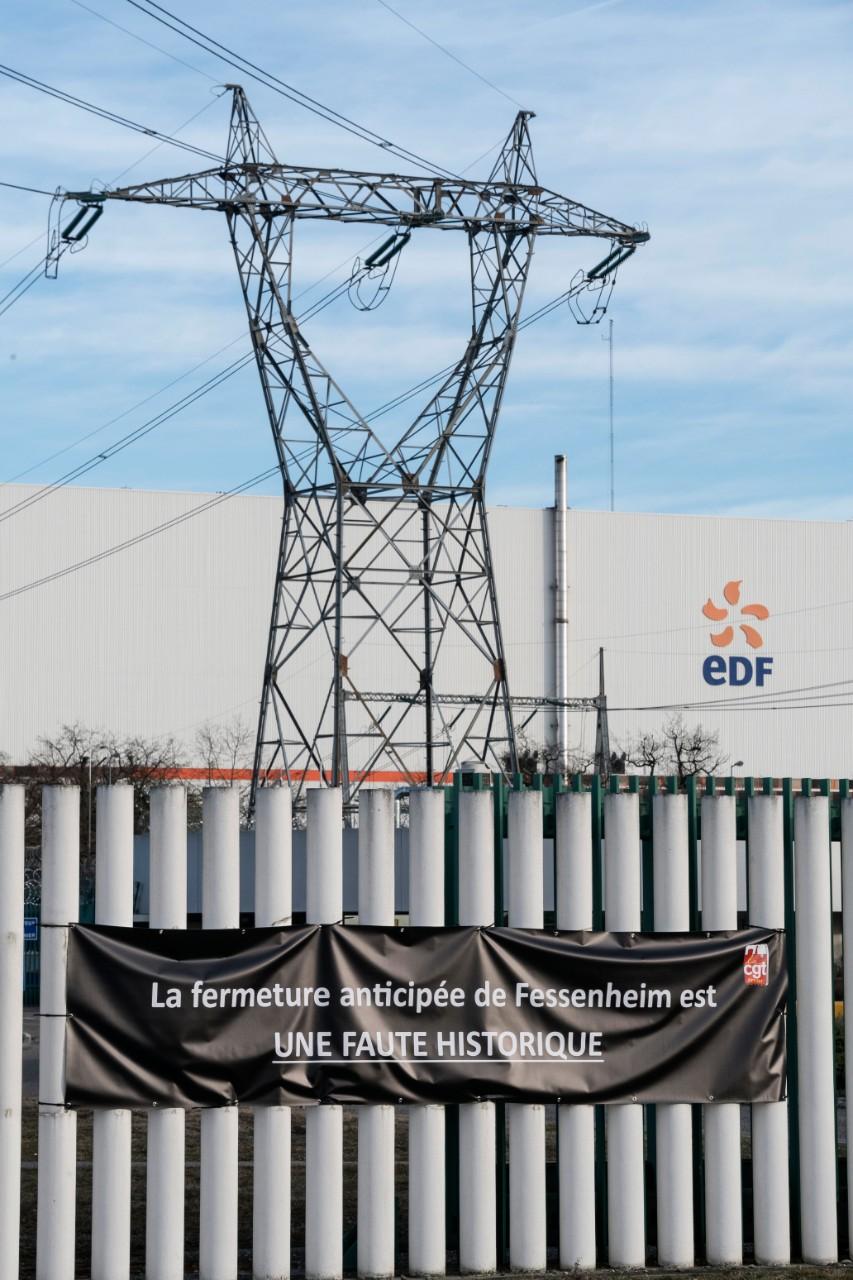 La centrale nucléaire de Fessenheim, en cours de démantelement, 21 février 2020. Photo: Sébastien Bozon / AF