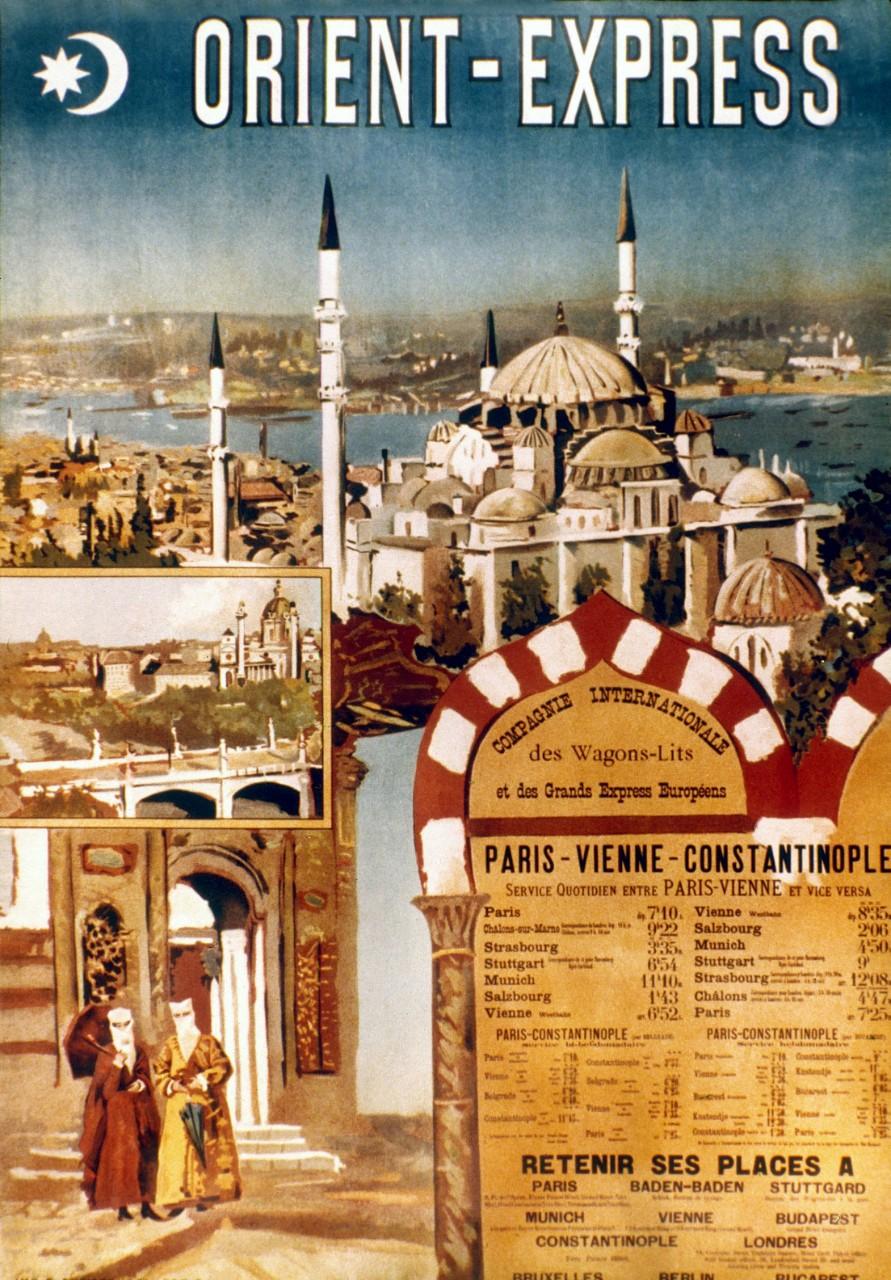 Affiche publicitaire pour l'Orient-Express, 1895 © Granger collection / Bridgeman images