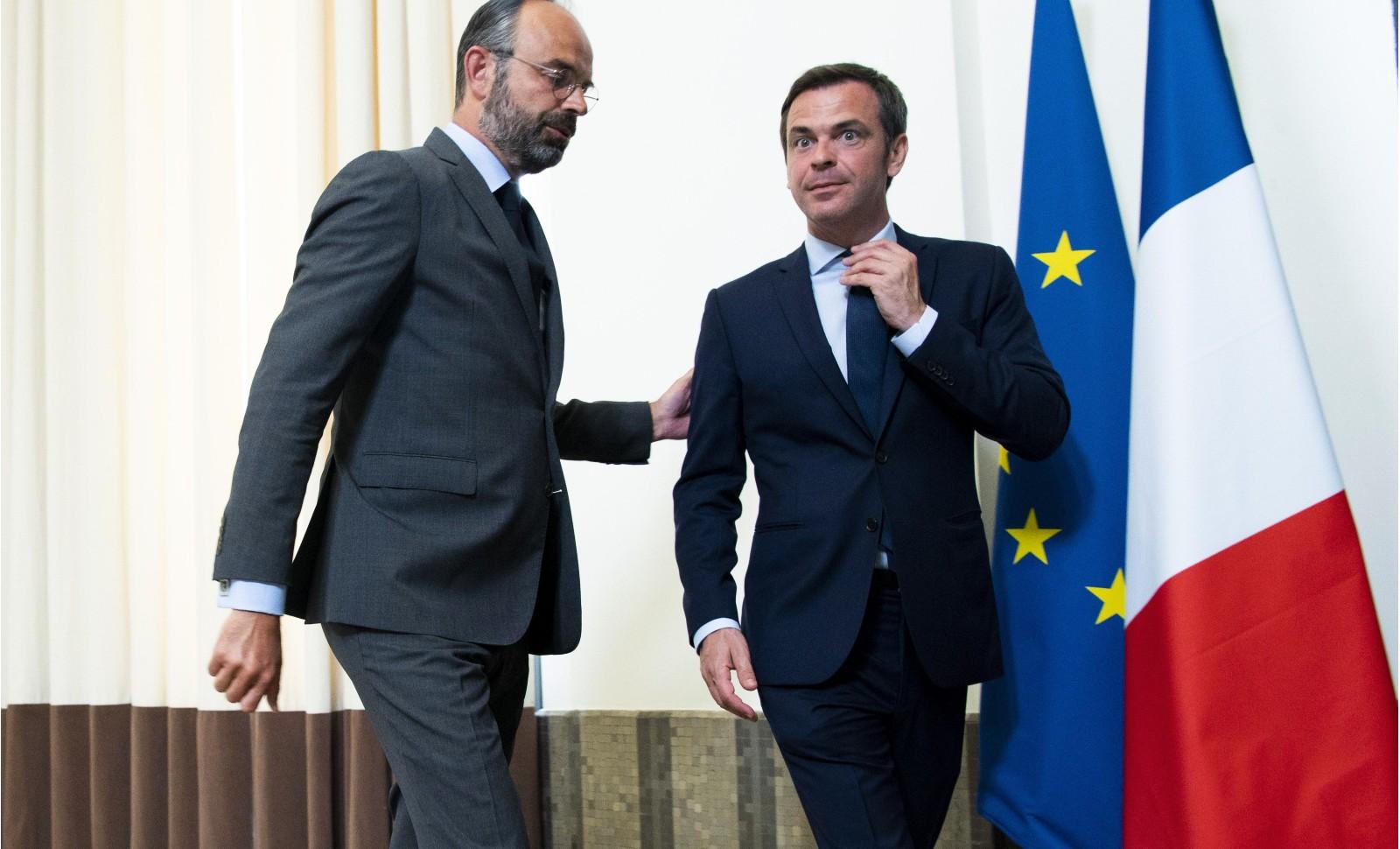 Edouard Philippe et Olivier Veran lancent le Ségur de la santé le 25 mai 2020 Paris © JB Autissier-POOL/SIPA Numéro de reportage: 00963865_000051