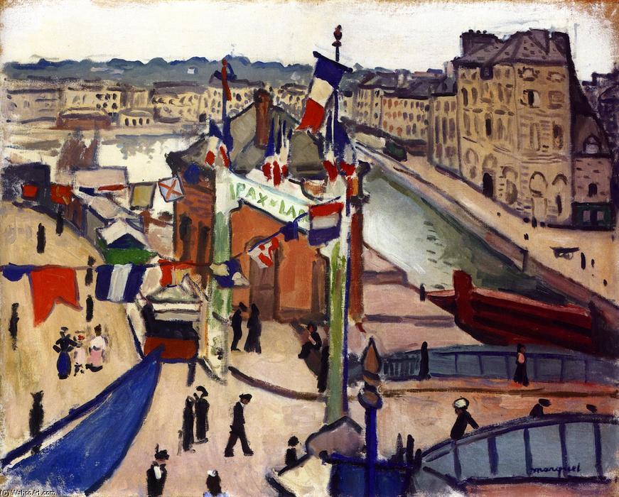 """La Fête nationale au Havre"""", Albert Marquet, 1906"""