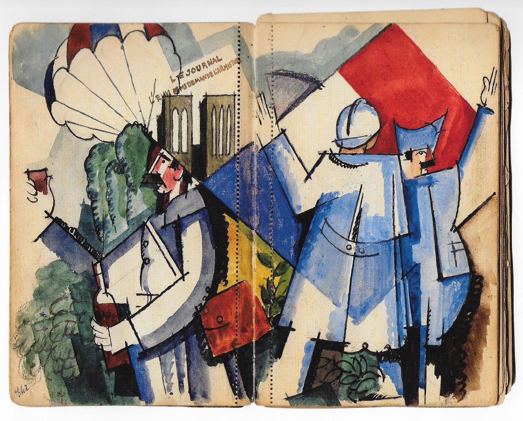 André Mare, L'Armistice 1918, carnet de guerre