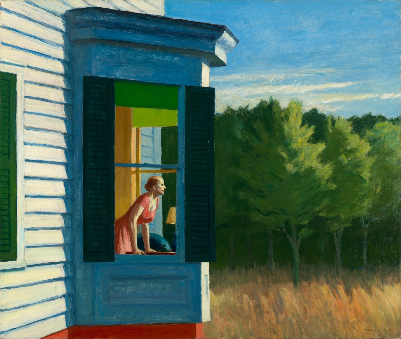 Edward Hopper Cape Cod Morning, 1950 Huile sur toile, 86.7 x 102.3 cm Smithsonian American Art Museum, Gift of the Sara Roby Foundation © Heirs of Josephine Hopper / 2019, ProLitteris, Zurich Photo : Smithsonian American Art Museum, Gene Young