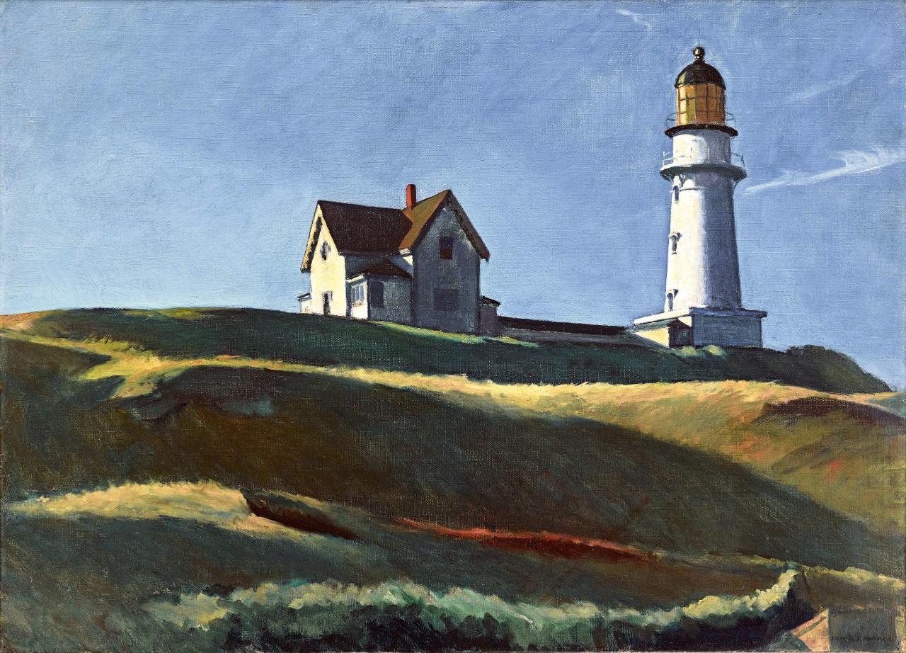 Edward Hopper Lighthouse Hill, 1927 Huile sur toile, 73.8 x 102.2 cm Dallas Museum of Art, don de Mr et Mme Maurice Purnell © Heirs of Josephine Hopper / 2019, ProLitteris, Zurich Photo : Dallas Museum of Art, Photo by Brad Flowers