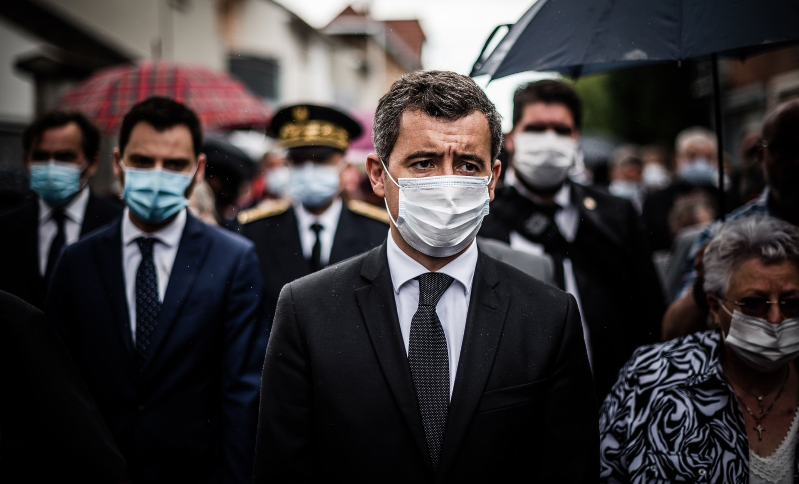 Gérald Darmanin à Saint-Étienne-du-Rouvray, juillet 2020 © NICOLAS MESSYASZ/SIPA Numéro de reportage: 00974295_000027