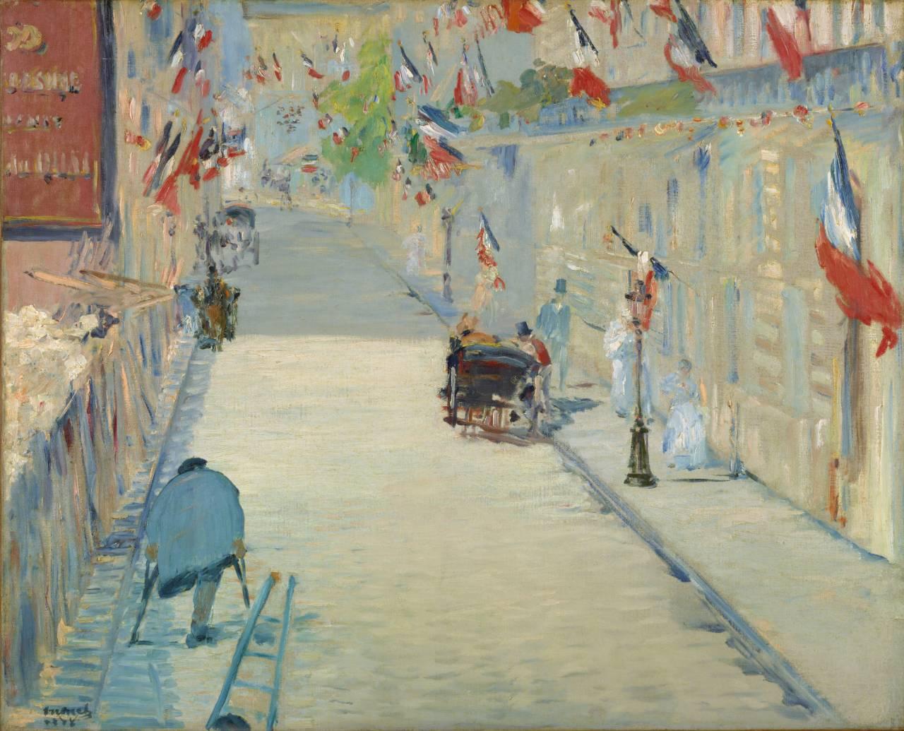 La Rue Mosnier aux drapeaux, Manet 1878