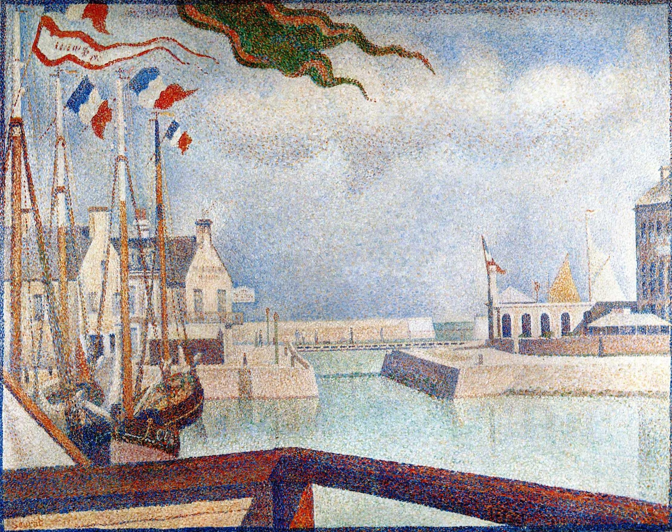 Dimanche à Port-en-Bessin, Georges Seurat, 1888