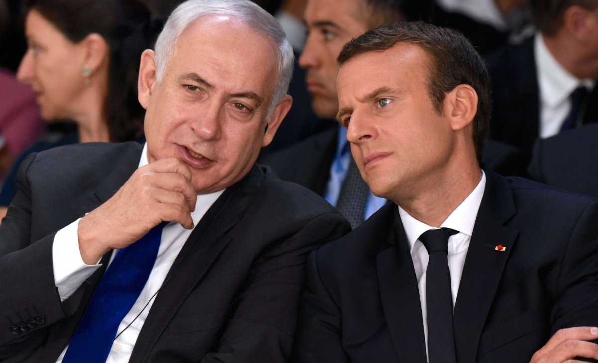 israel macron netanyahou