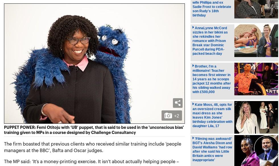 Capture d'écran du site dailymail.co.uk