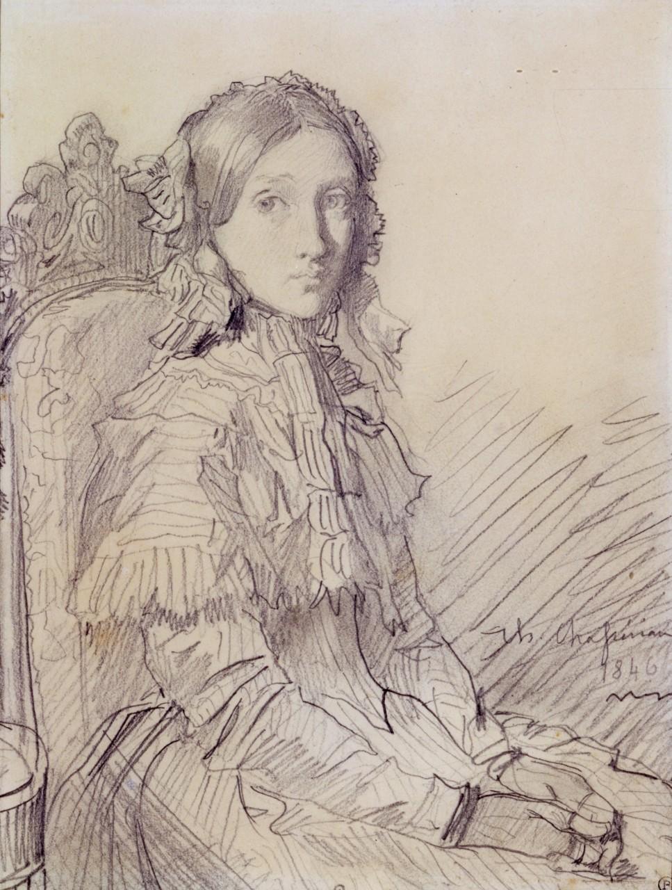 Théodore Chassériau - Portrait de Lydie de Buus
