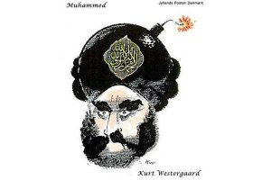 """Une des caricatures de Mahomet du journal danois Jyllands-Posten, publiée dans """"Charlie Hebdo"""", raison pour laquelle les frères Kouachi ont tué."""