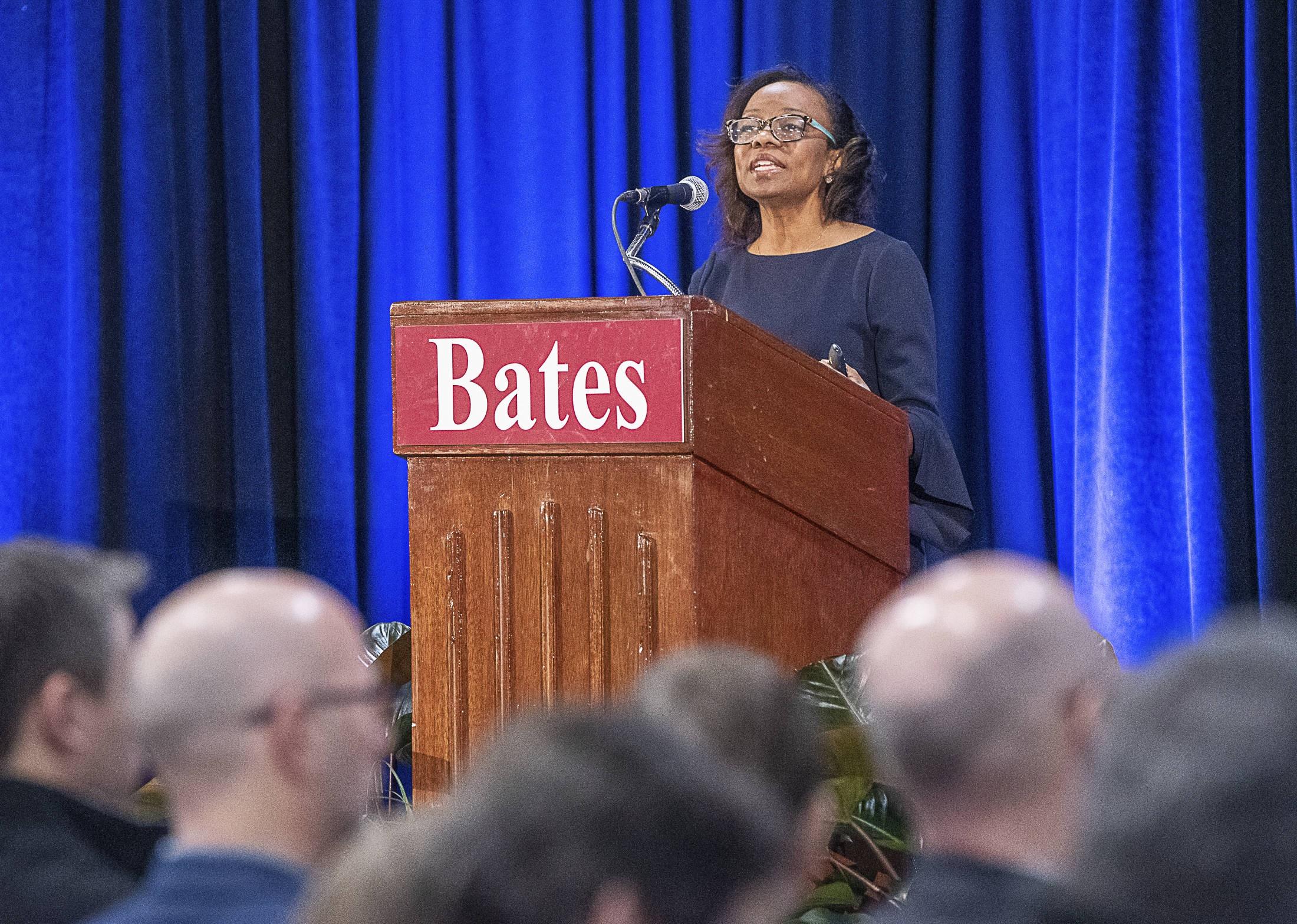 Conférence de la chercheuse Jennifer Lynn Eberhardt au Bates College (Maine), 10 janvier 2020 © Andrea Kehn / AP / SIPA.