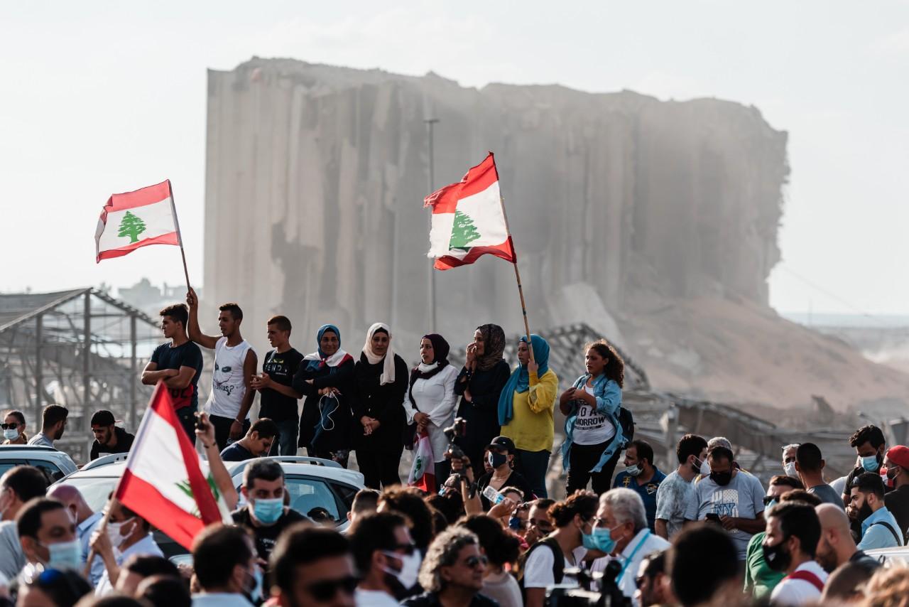 Manifestation contre le gouvernement libanais, beyrouth, 11 août 2020 © Karine Pierre / Hans Lucas / AFP