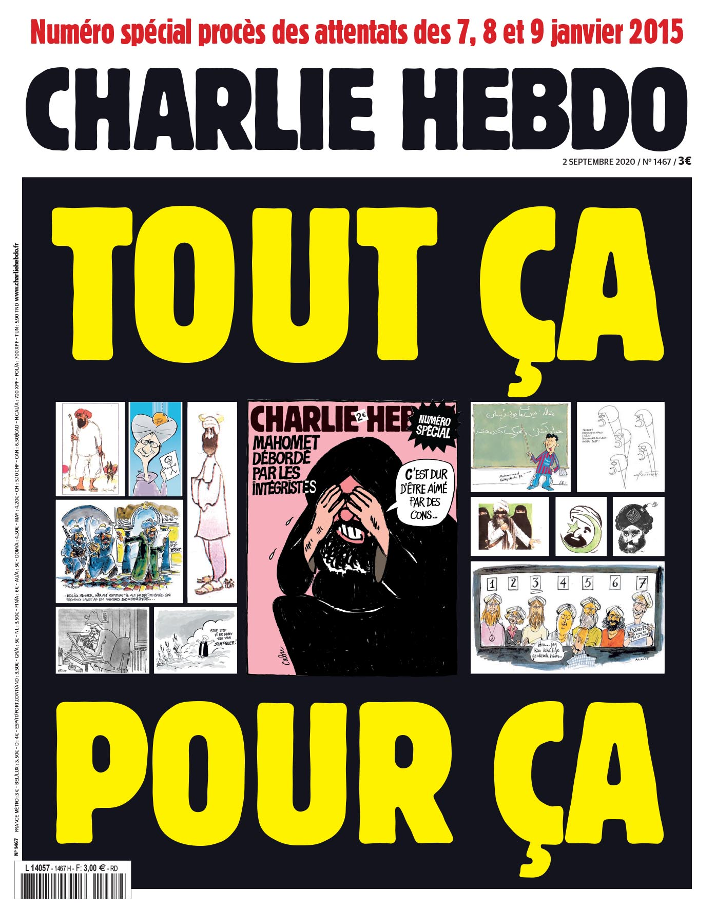 "La Une de ""Charlie Hebdo"" du 2 septembre 2020"