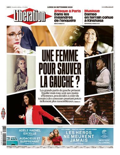 Une de Libération du 28 septembre 2020.