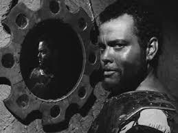 Orson Welles jouant Othello en 1951.