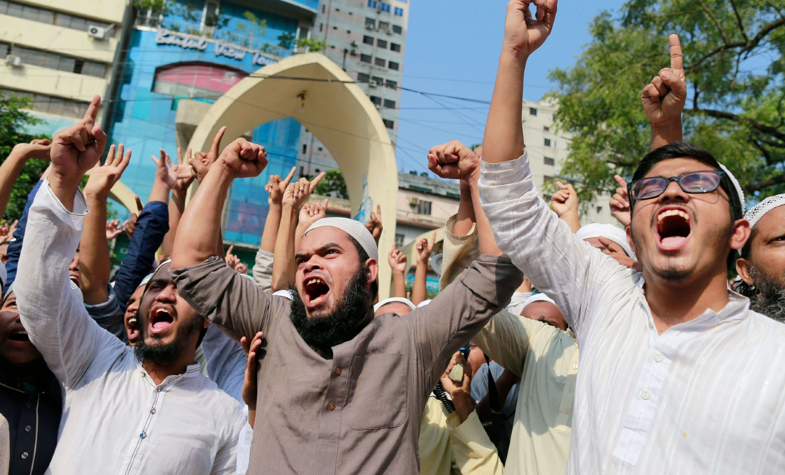 Manifestations contre la France à Dhaka, Bangladesh, le 28 octobre 2020 © Suvra Kanti Das/Shutterstock/SIPA Numéro de reportage: Shutterstock40801396_000040.