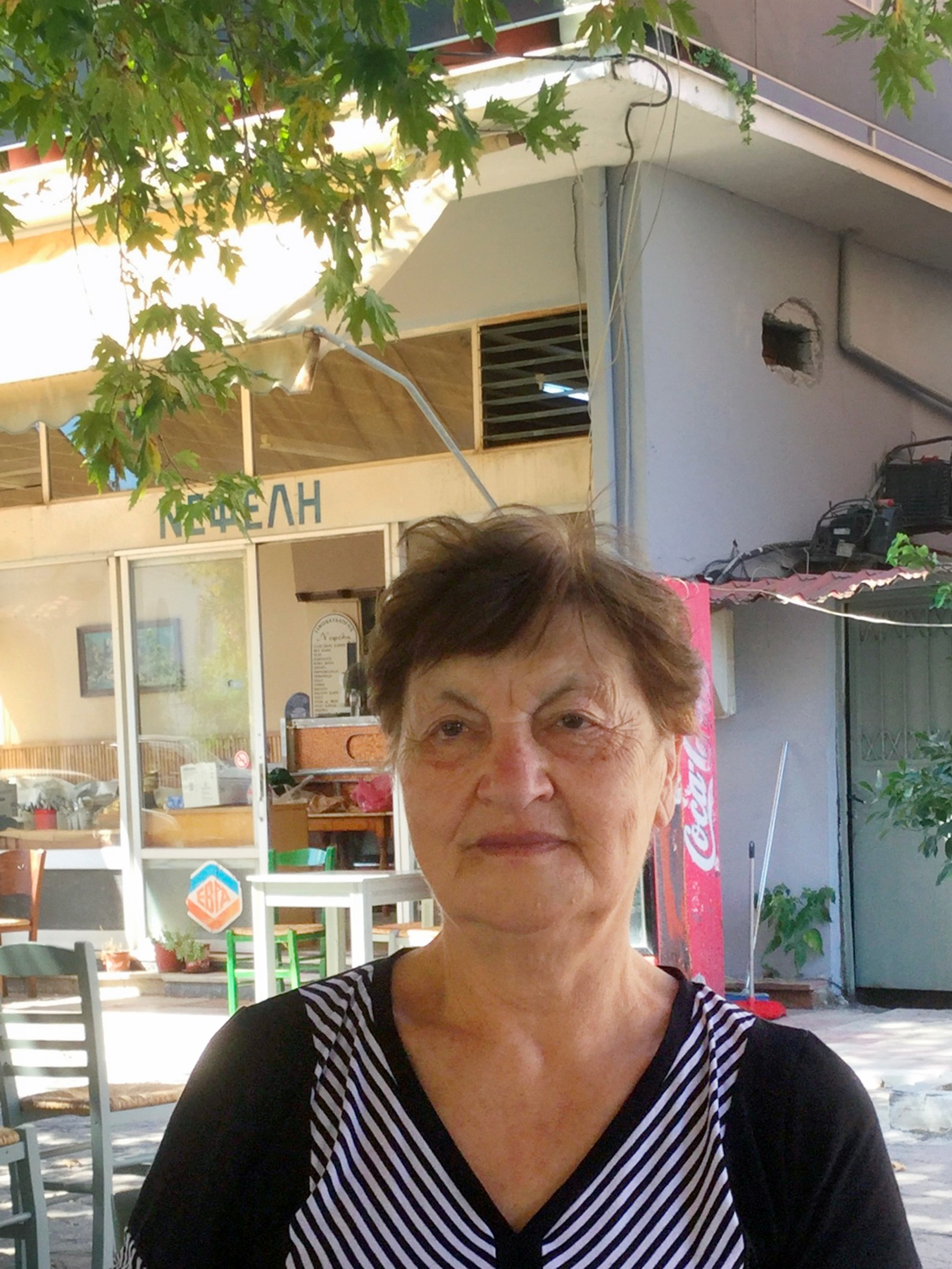 Melpomène, 75 ans, habitante de Lesbos. D.R.