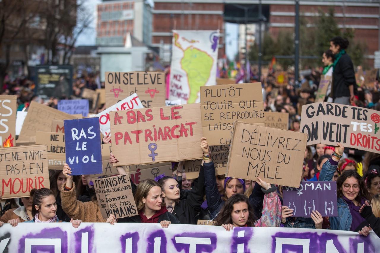 Manifestation à l'occasion de la Journée internationale des droits de la femme, Toulouse, 8 mars 2020. ©Frédéric Scheiber/ Hans Lucas/ AFP