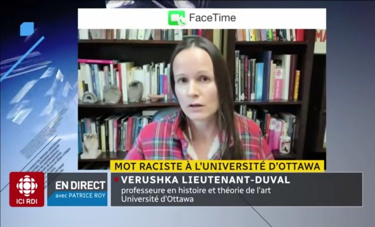 L'enseignante Verushka Lieutenant-Duval. Image: Capture d'écran YouYube / Radio-Canada Info.