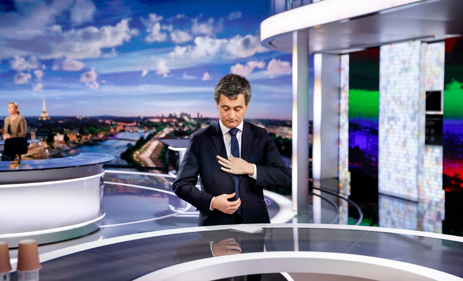 Gerald Darmanin photographié avant son entretien au journal de 20 heures de France 2, le 26 novembre 2020 © Thomas COEX / AFP.