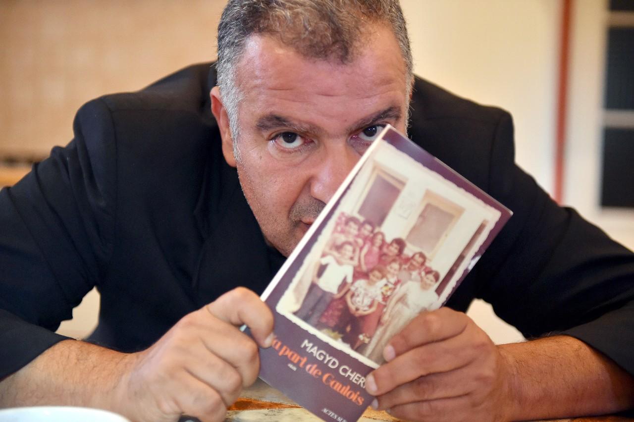 """Magyd Cherfi, membre du groupe Zebda, présente son livre """"Ma part de Gaulois"""", Toulouse, 14 septembre 2016.© Rémy Gabalda/AFP"""