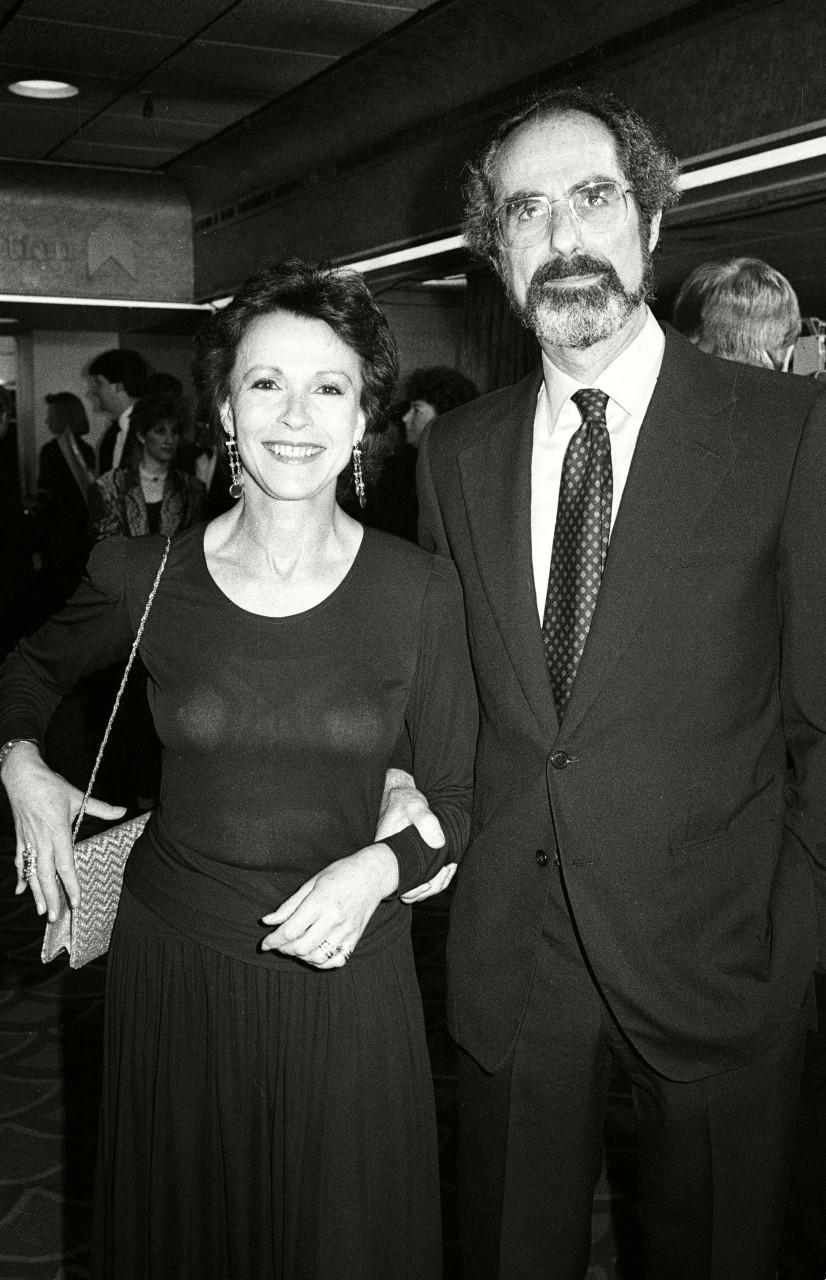 Philip Roth et sa femme, Claire Bloom, aux 38e British Academy Film Awards (BAFA), Londres, 1986