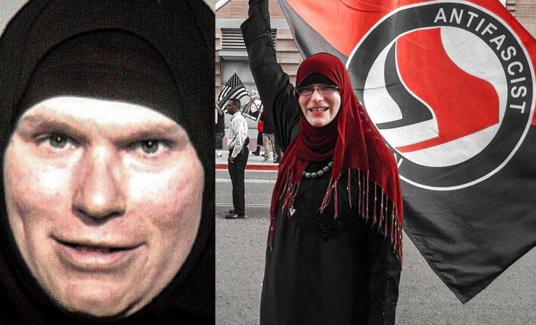 Pas de burqa pour les transgenres antifascistes