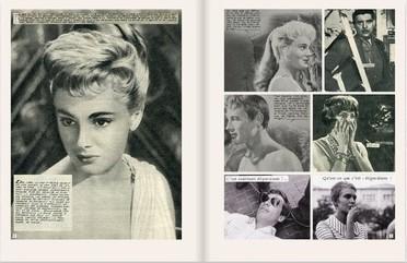 """Photogrammes issus du livre de Jan Baetens """"Une fille comme toi"""", parmi une collection de plus de 1500 ciné-romans-photos."""