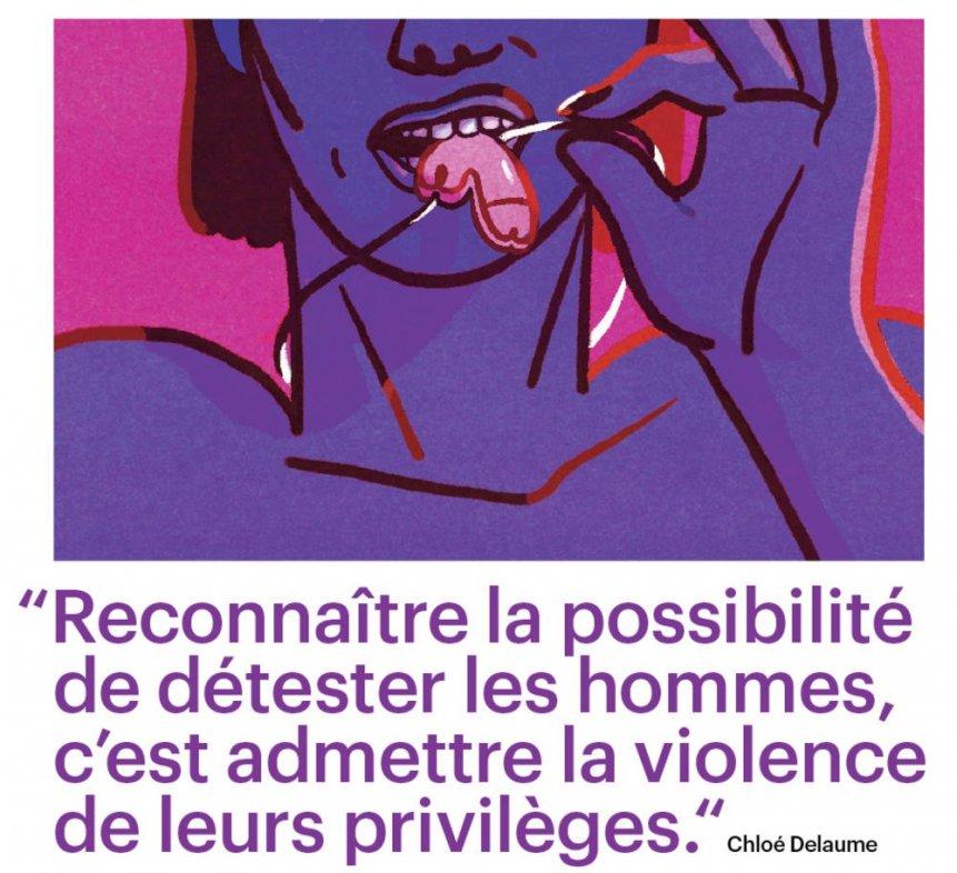 Illustration et commentaire de la page 47 du numéro du 9 décembre de Télérama. © D.R
