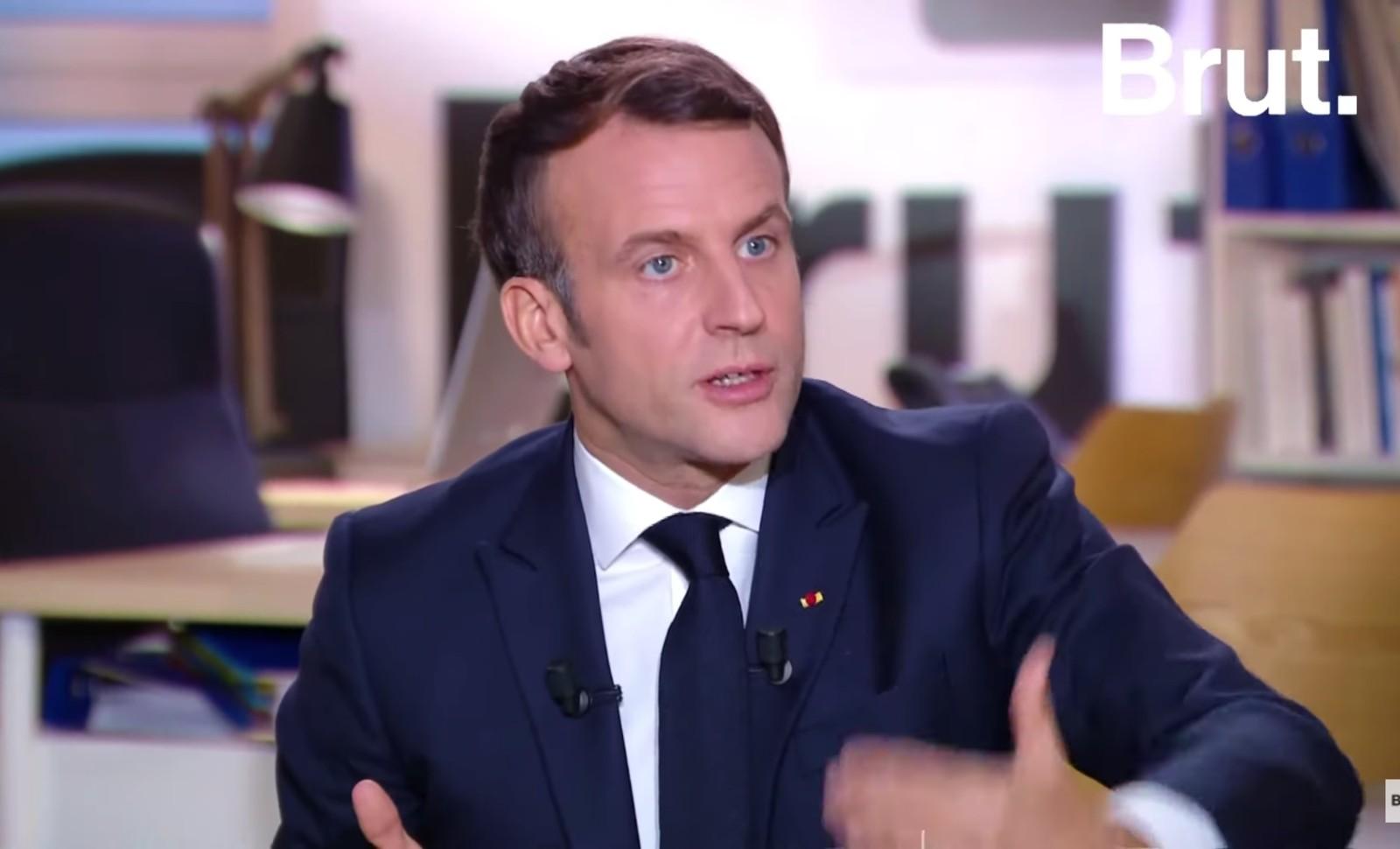 Emmanuel Macron le 4 décembre 2020 Image capture d'écran YouTube
