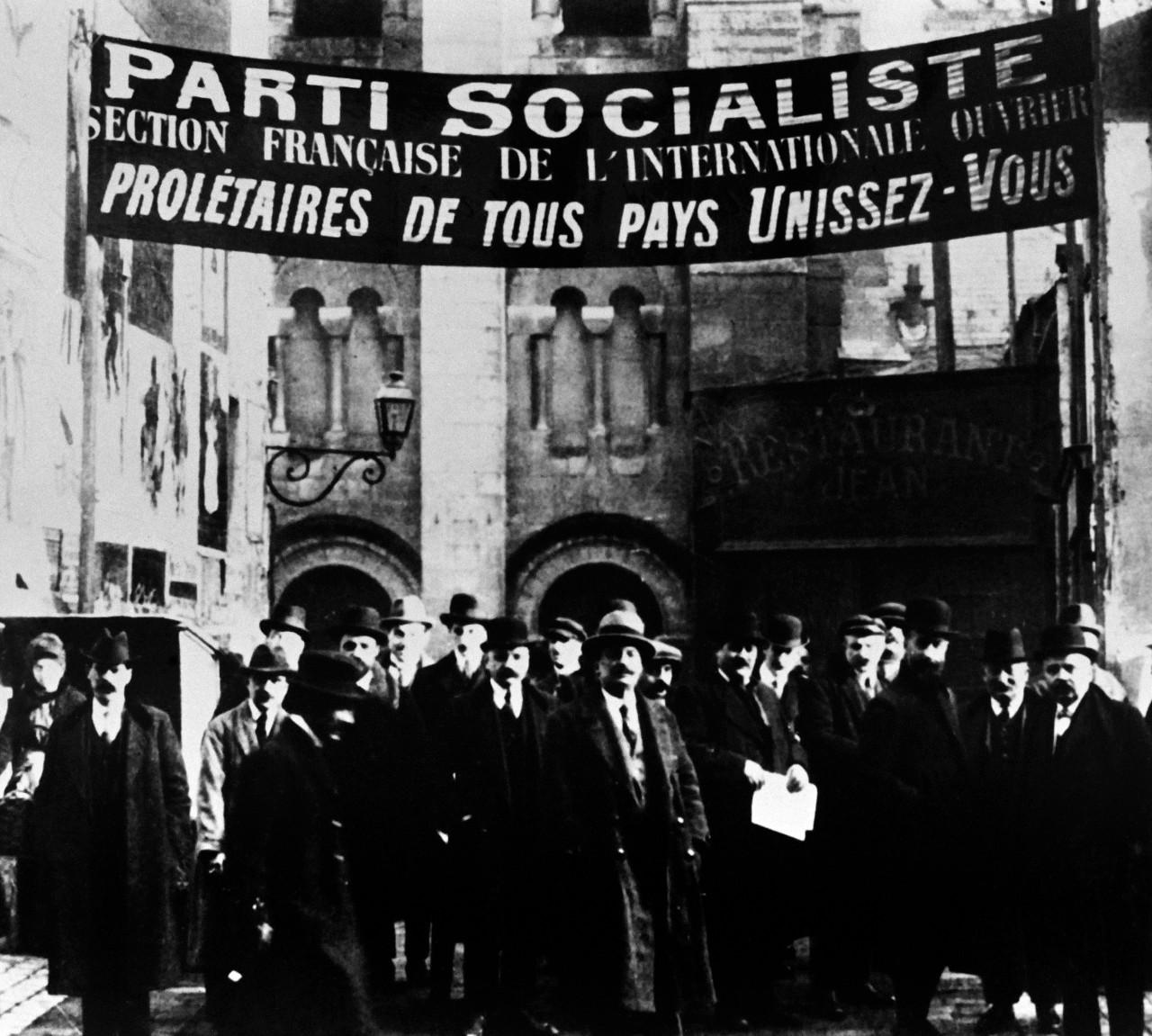 Délégués du Parti socialiste lors du Congrès de Tours, 25 décembre 1920. © AFP