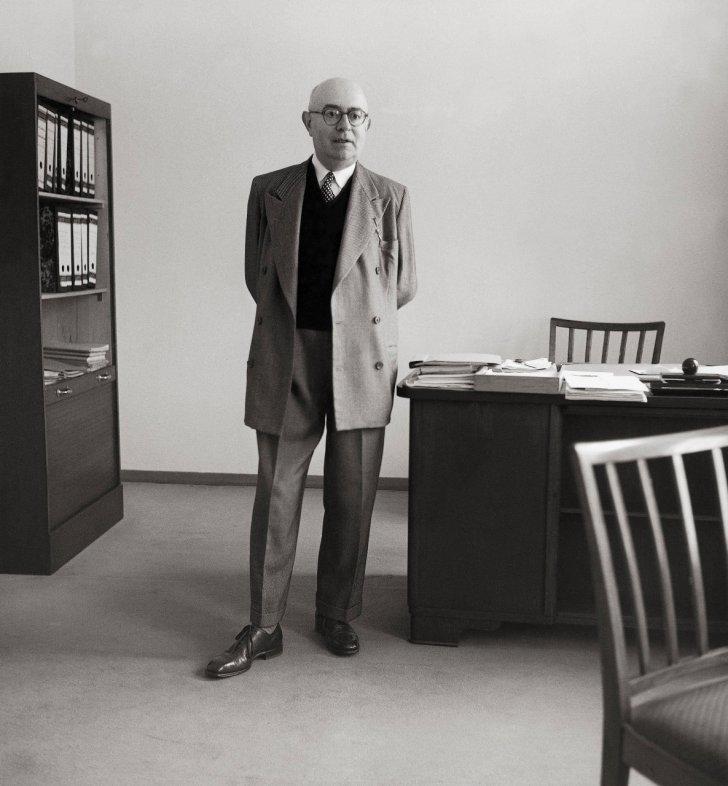 Theodor W.Adorno, 1958. © AFP