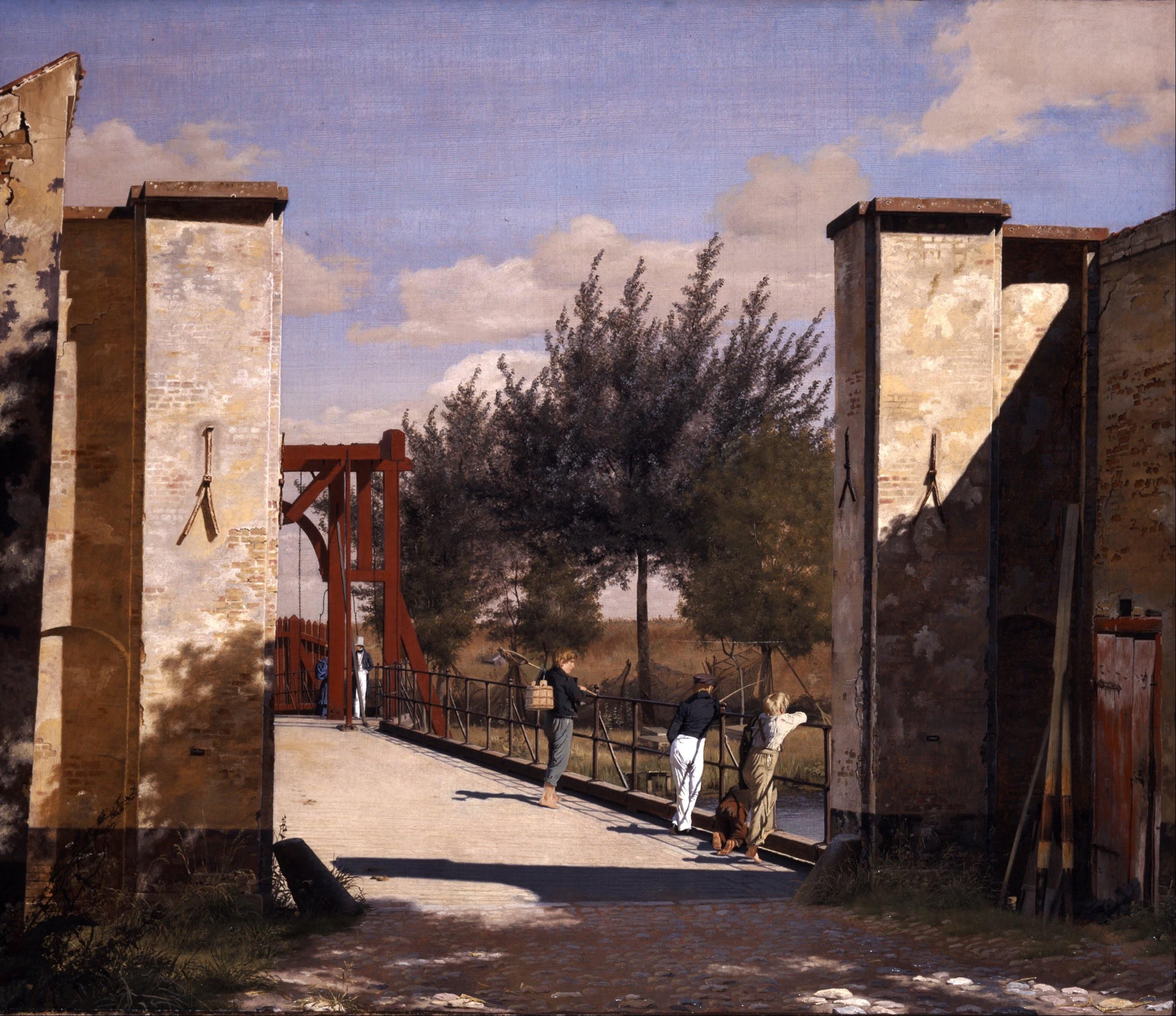 Christen Købke, Vue depuis la citadelle, côté nord, 1834 Huile sur toile, 79 x 93 cm, Ny Carlsberg Glyptotek.