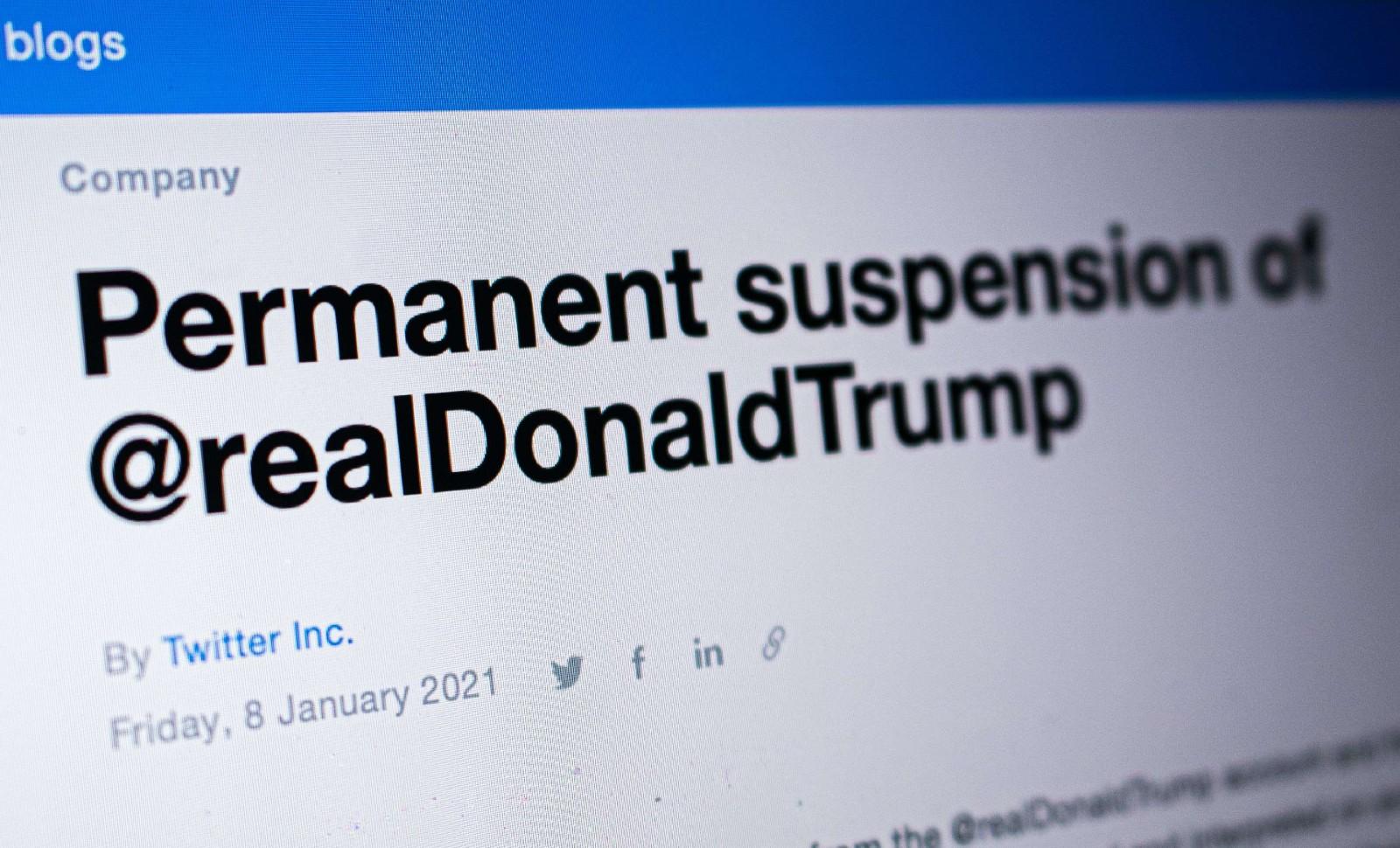 Le site Twitter a suspendu le compte de Donald Trump © Amer Ghazzal/Shutterstock/SIPA Numéro de reportage : Shutterstock40817988_000004