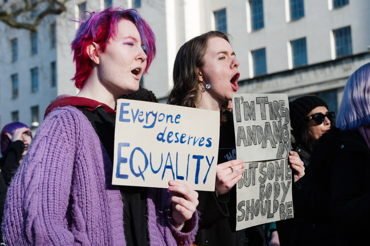 Fatiguées et en colère. « Marche des femmes contre les inégalités », Londres, 18 janvier 2020 © Wiktor Szymanowicz / NurPhoto / AFP