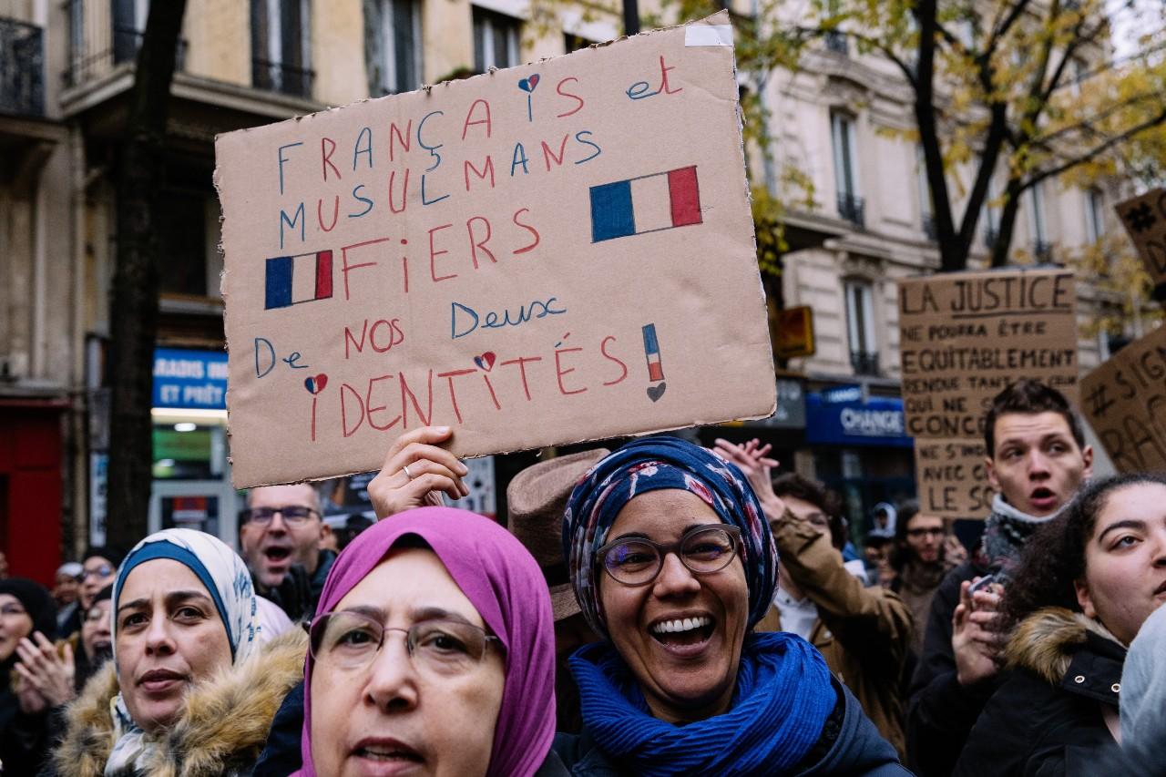 Marche contre l'islamophobie, Paris, 10 novembre 2019. © Marie Magnin/ Hans Lucas/AFP