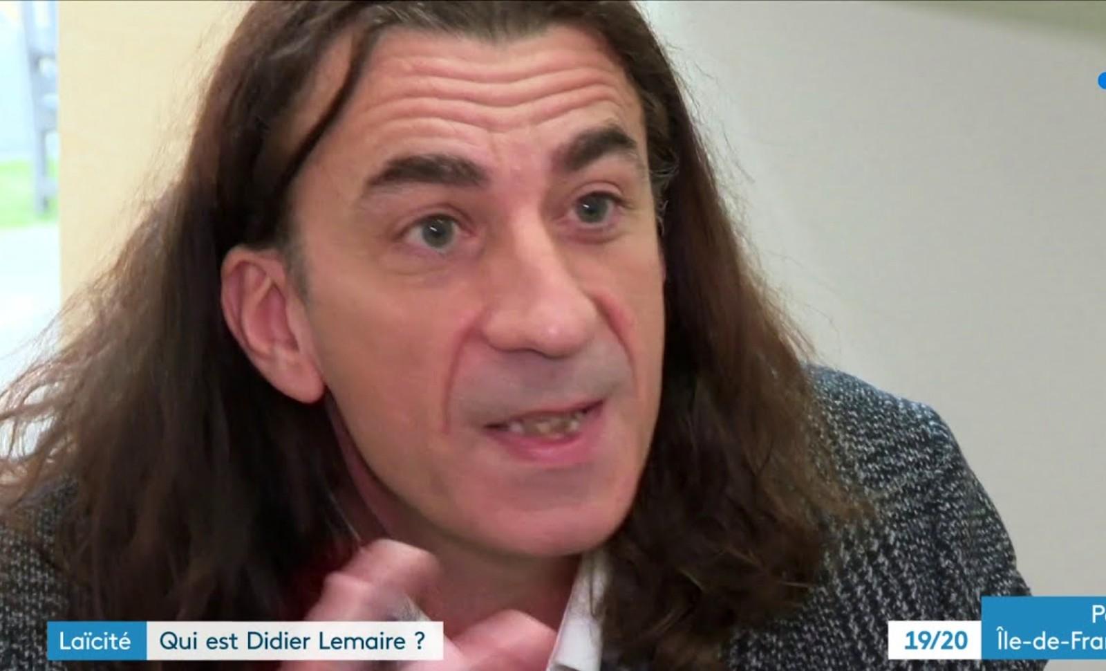 Didier Lemaire sur France 3. Image: capture d'écran