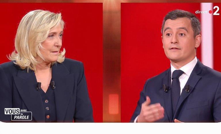 Darmanin et Le Pen sortent-ils vraiment tous deux gagnants du débat de France 2?