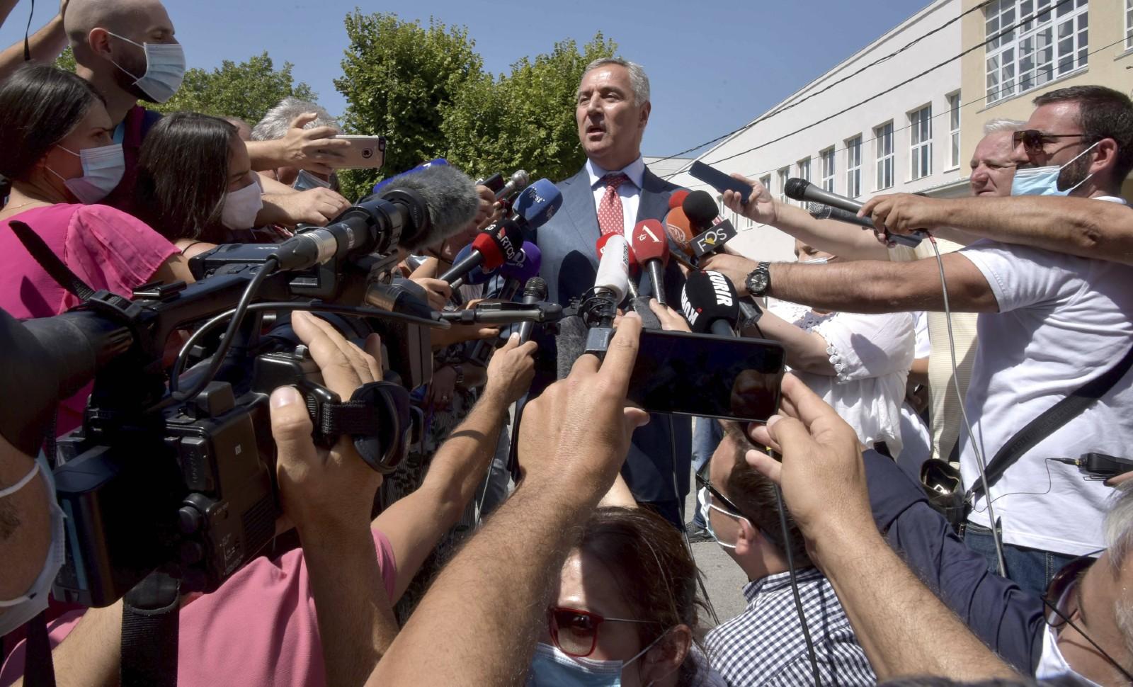 Le président du Monténégro en difficulté Milo Djukanovic, août 2020 © Risto Bozovic/AP/SIPA Numéro de reportage : AP22487948_000022