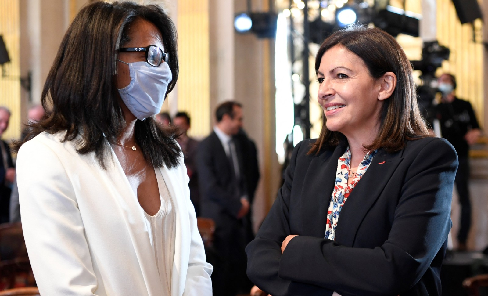 Audrey Pulvar et Anne Hidalgo, mars 2020 © BERTRAND GUAY / AFP