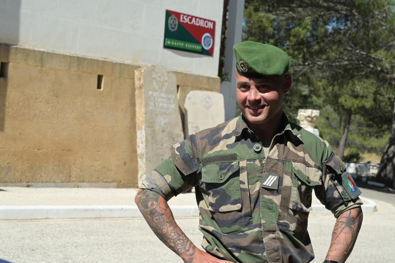 """Le chef Fabien, 35 ans, dix-sept ans de Légion, quelques semaines après son retour du Mali. """"Si je meurs au combat, c'est que j'aurai accompli ma mission sur Terre""""."""