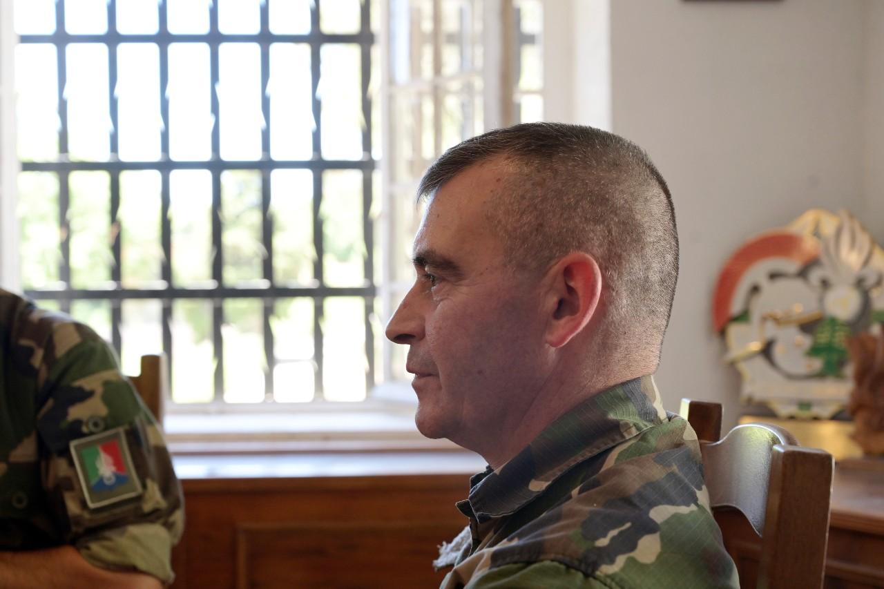 Le capitaine Thierry Piquemal, dircab du chef de corps, est convaincu que l'esprit de la Légion continuera à souffler.