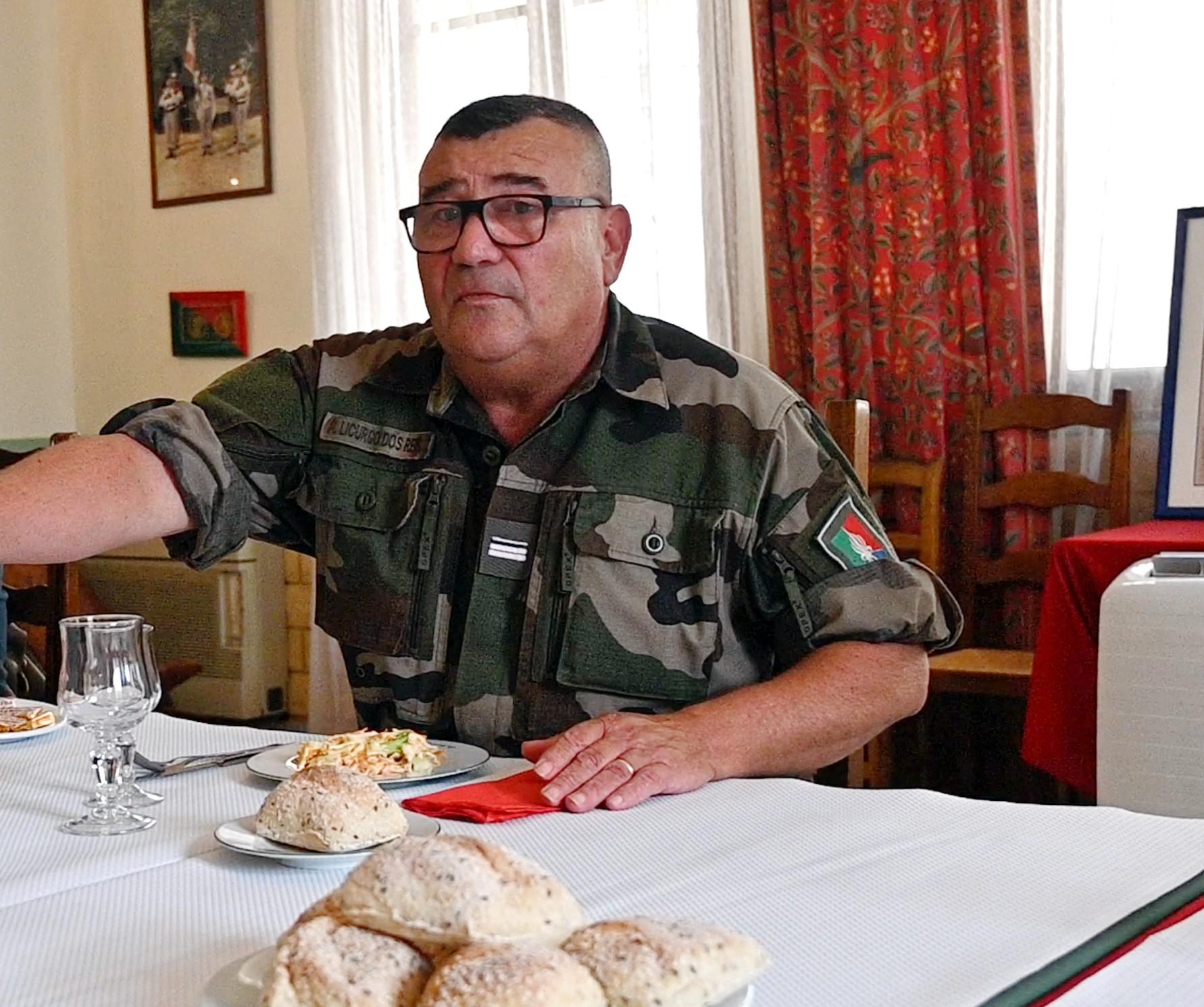 Le major Tony, chef des sous-officiers. Il quittera la Légion en 2022 fort de quarante ans de service.