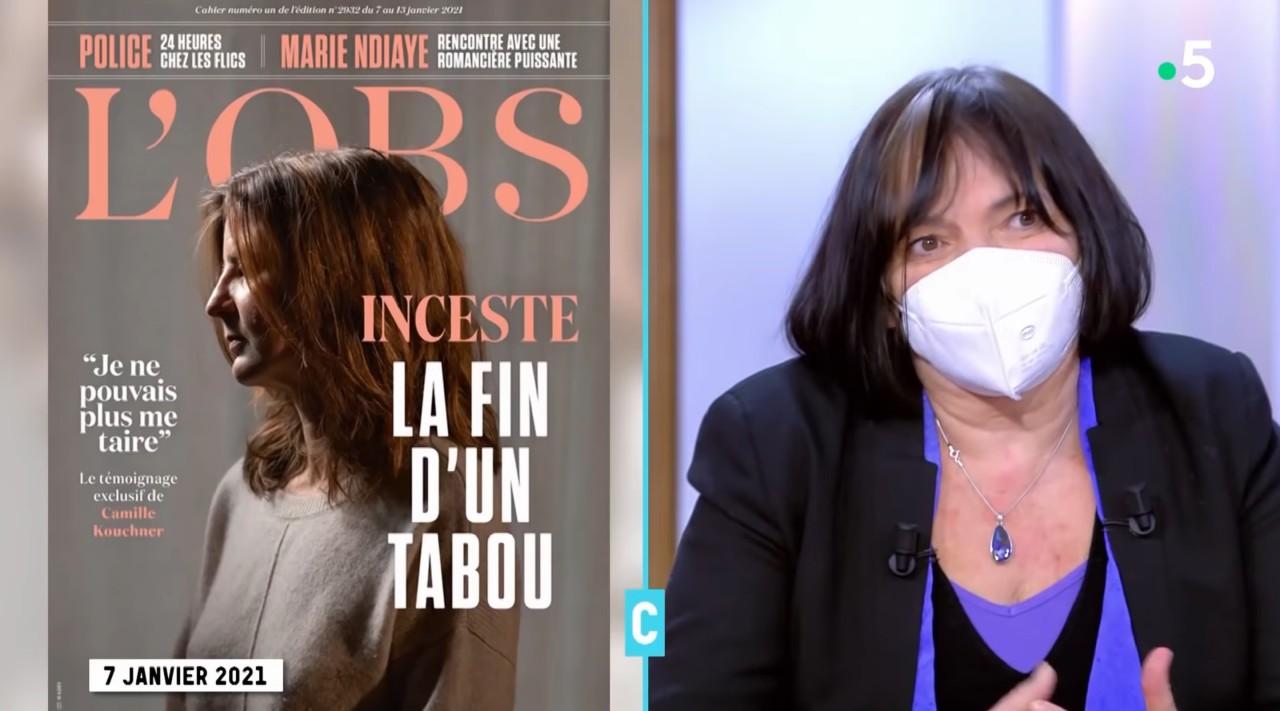 Muriel Salmona est invitée par tous les plus grands médias, où elle peut diffuser sa propagande sans contradiction. Photo: capture d'écran France 5.