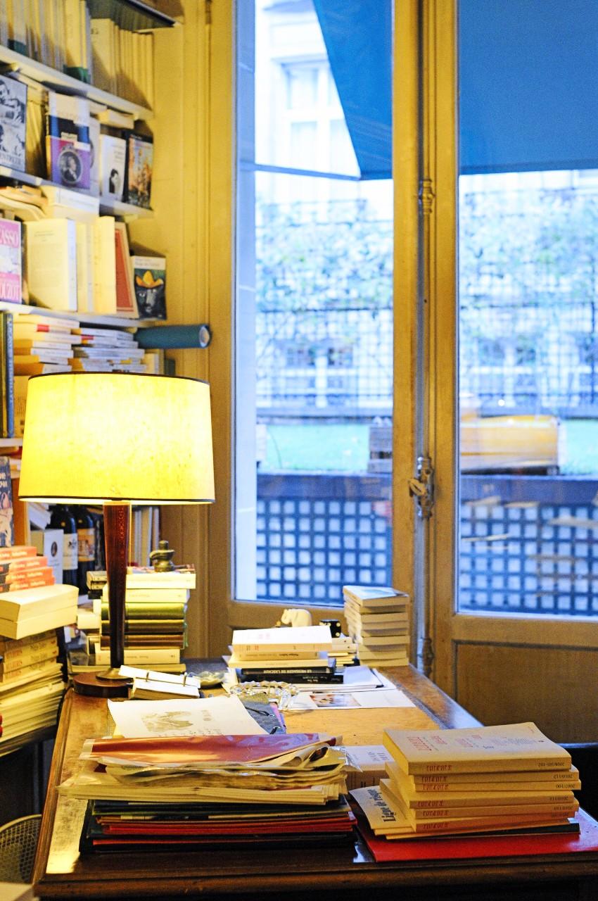 Bureau de Philippe Sollers à Paris Photo: Hannah Assouline