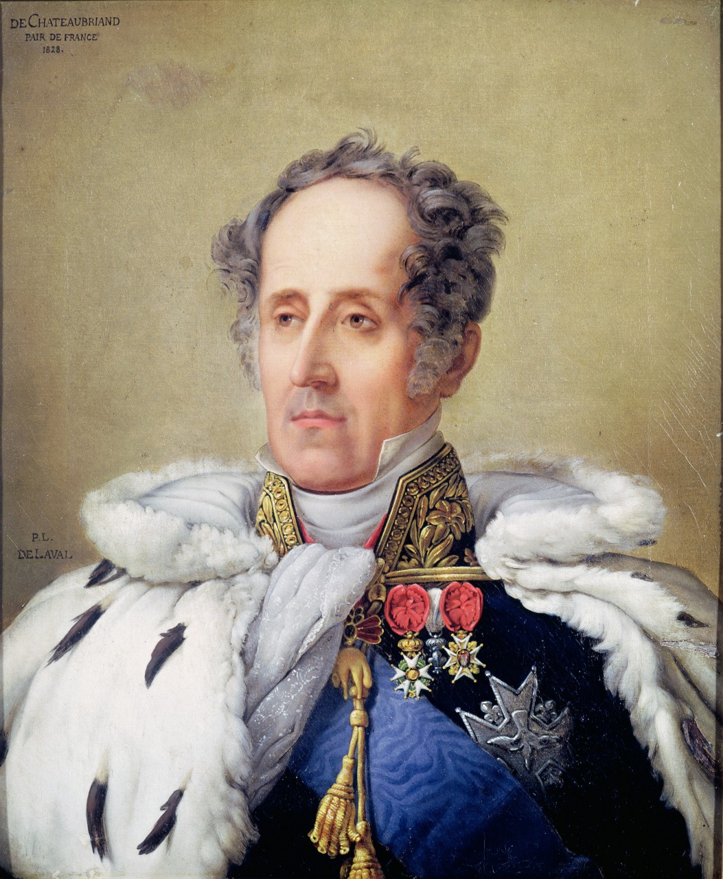 François-René de Chateaubriand en costume de pair de France, Pierre-Louis Delaval, 1828 © Bridgeman Images/Leemage