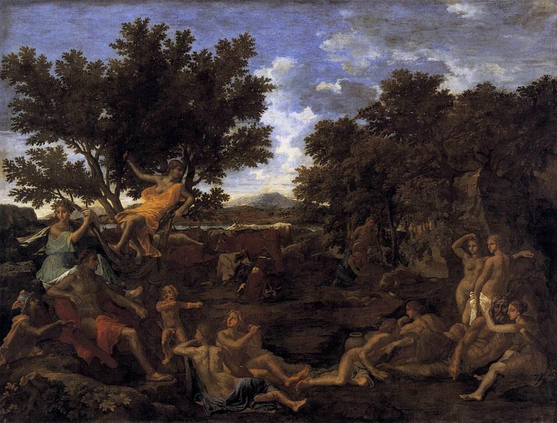 Nicolas Poussin - 'Apollon amoureux de Daphné' Wikimedia Commons