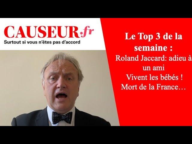 """[Vidéo] Suicide de Roland Jaccard, Une """"immonde"""" de """"Causeur"""", Mathieu Bock-Côté: la semaine de Causeur"""